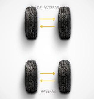 Patrón de rotación de neumáticos Chevrolet: vehículos con neumáticos de diferente tamaño