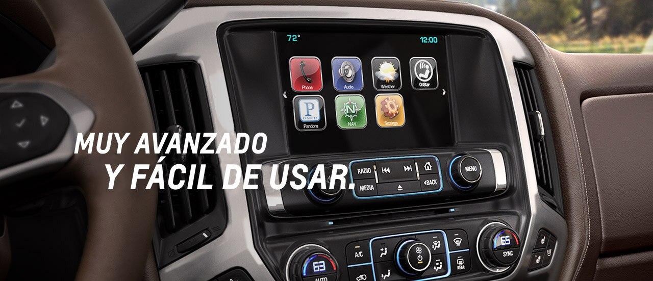 MyLink de Silverado: pantalla táctil, Bluetooth, radio USB