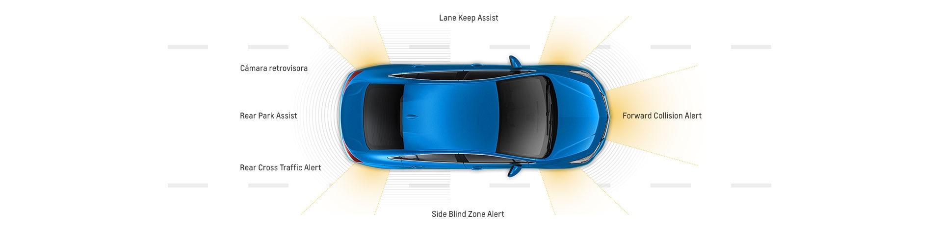 Seguridad del auto compacto Cruze 2017