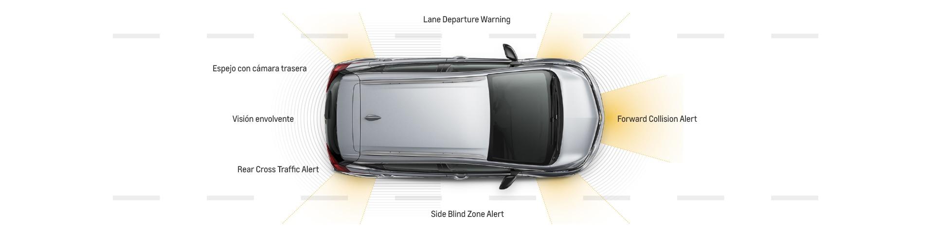 Seguridad del vehículo totalmente eléctrico Bolt EV 2017: características avanzadas de seguridad, alertas