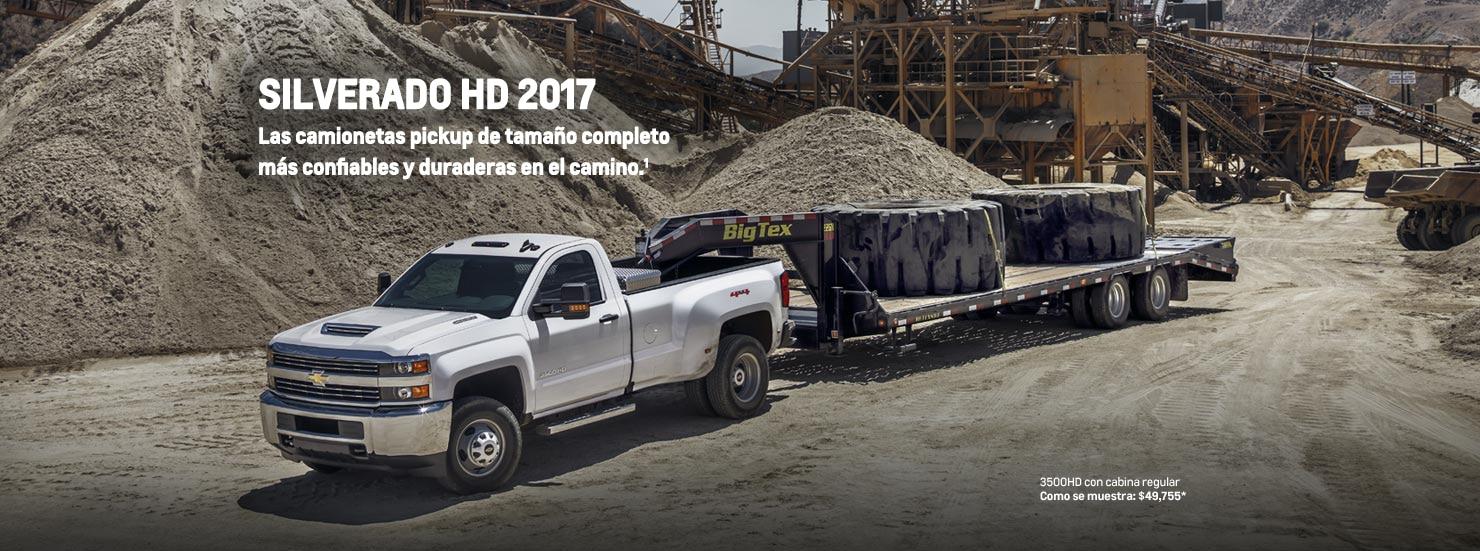 Camioneta comercial Silverado HD 2017 para trabajos pesados