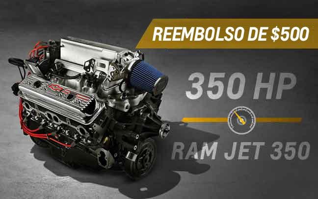 Motor armado de bloque pequeño Ram Jet 350 V8