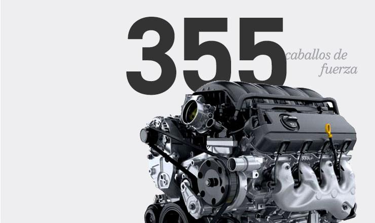Los 355 caballos de fuerza son estándar en el V8 de la Chevrolet Suburban 2016