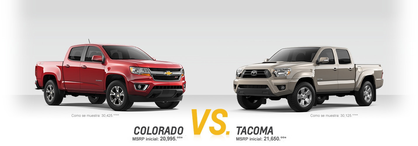 Colorado vs. Tacoma: Cuadro comparativo | Chevrolet