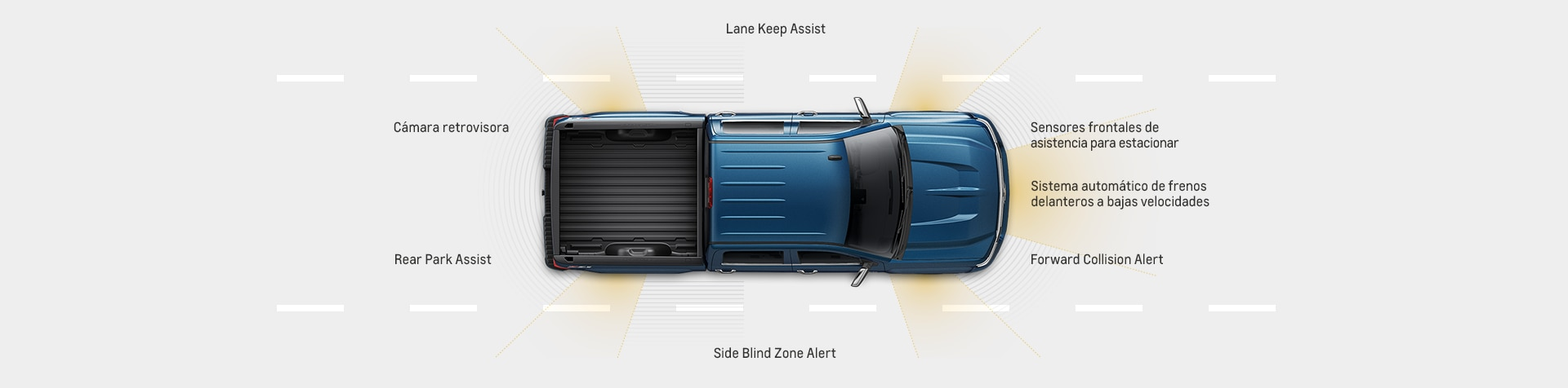 Seguridad de la camioneta pickup Silverado 1500 2017