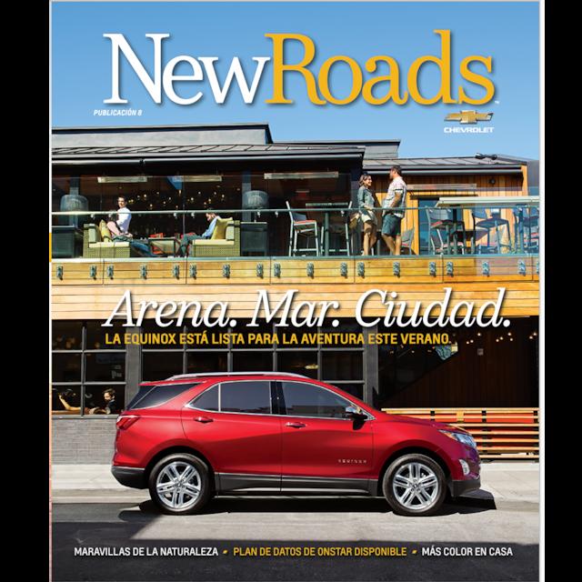 Tapa de la edición 8 de la revista New Roads de Chevrolet