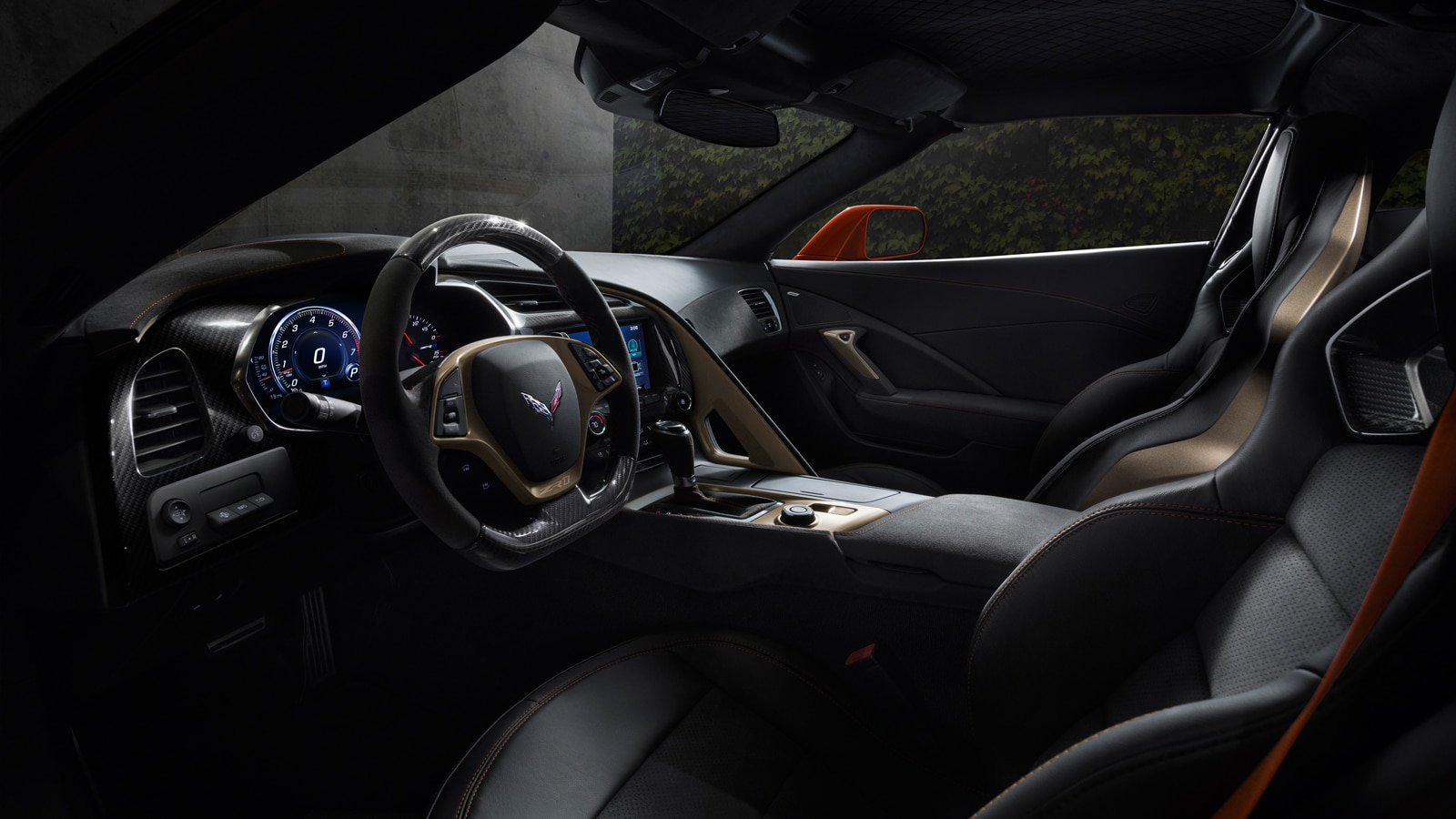 El interior de un Corvette ZR1 2019.