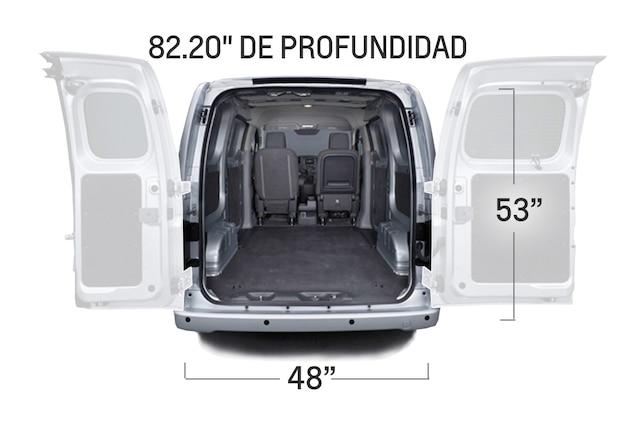 Carga de la van de carga compacta City Express 2017: dimensiones traseras