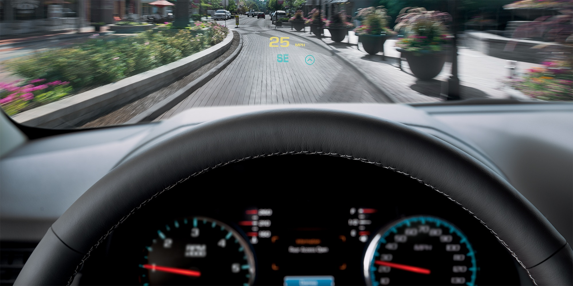 Tecnología de la Tahoe SUV 2018: head-up display