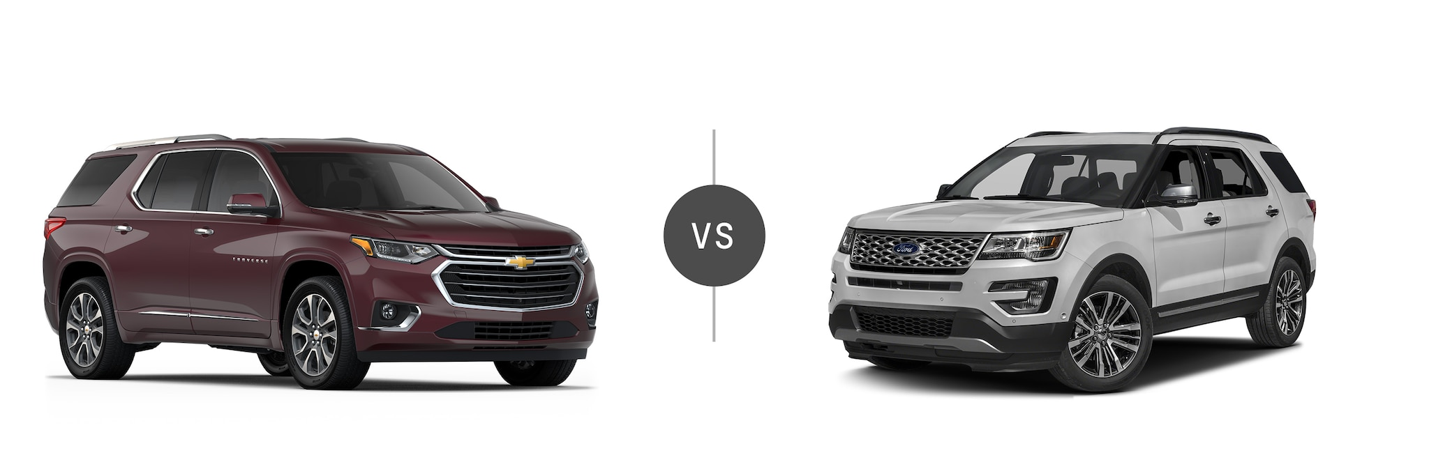 2018 Chevrolet Traverse and 2017 Ford Explorer