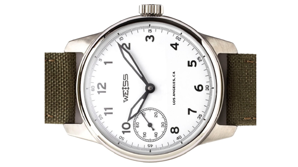 Primer plano de un reloj Weiss.