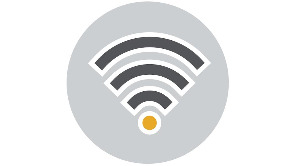 Un dibujo lineal que indica Wi-Fi.