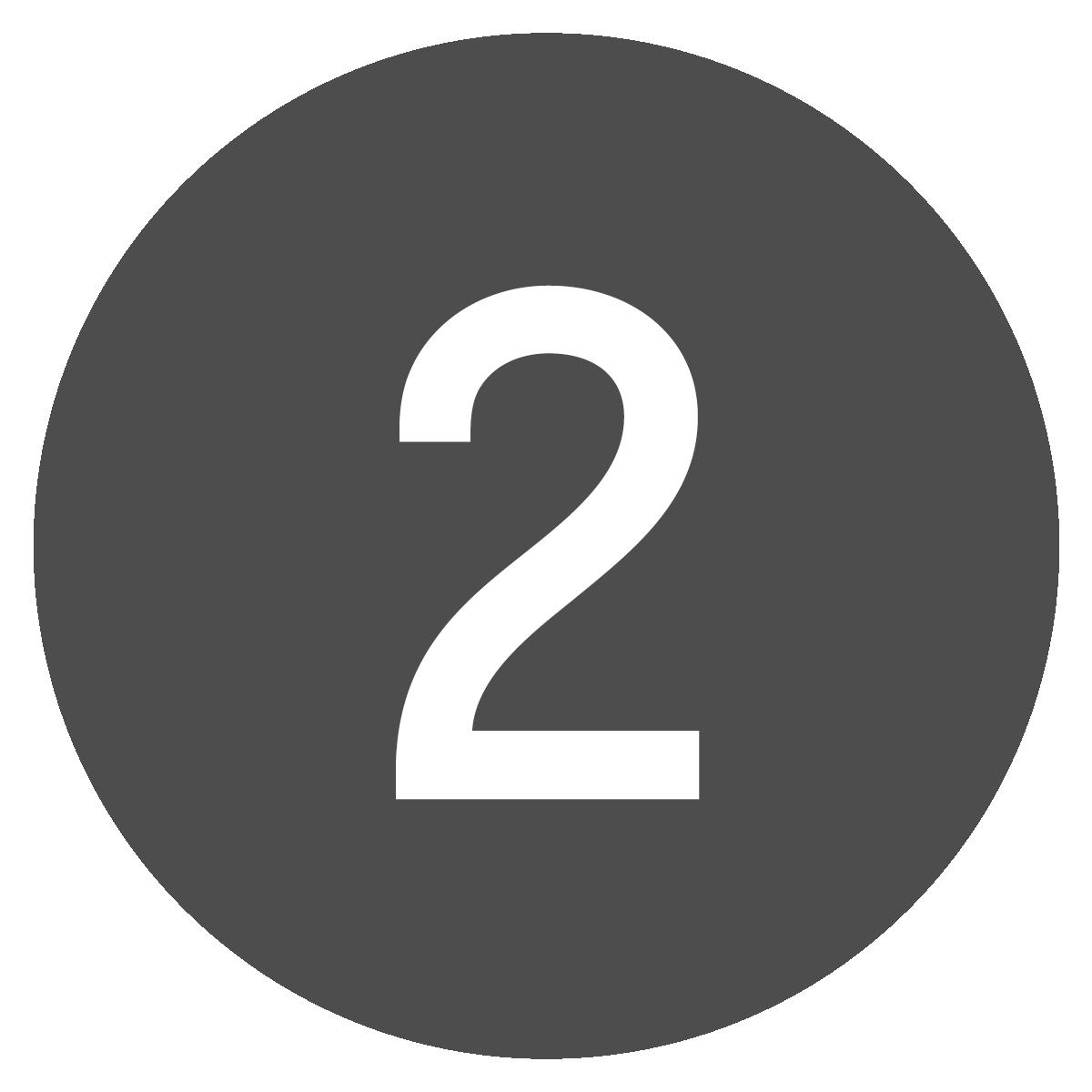 Botón redondo del número dos.