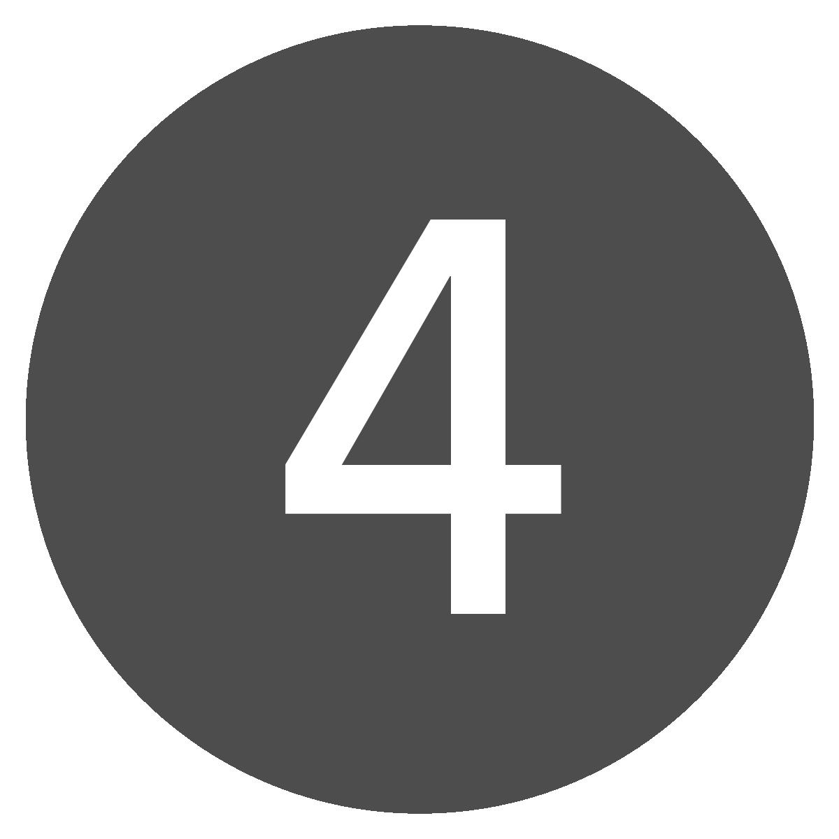 Botón redondo del número cuatro.