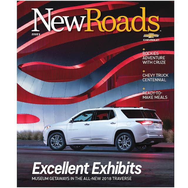 Tapa de la edición 9 de la revista New Roads de Chevrolet