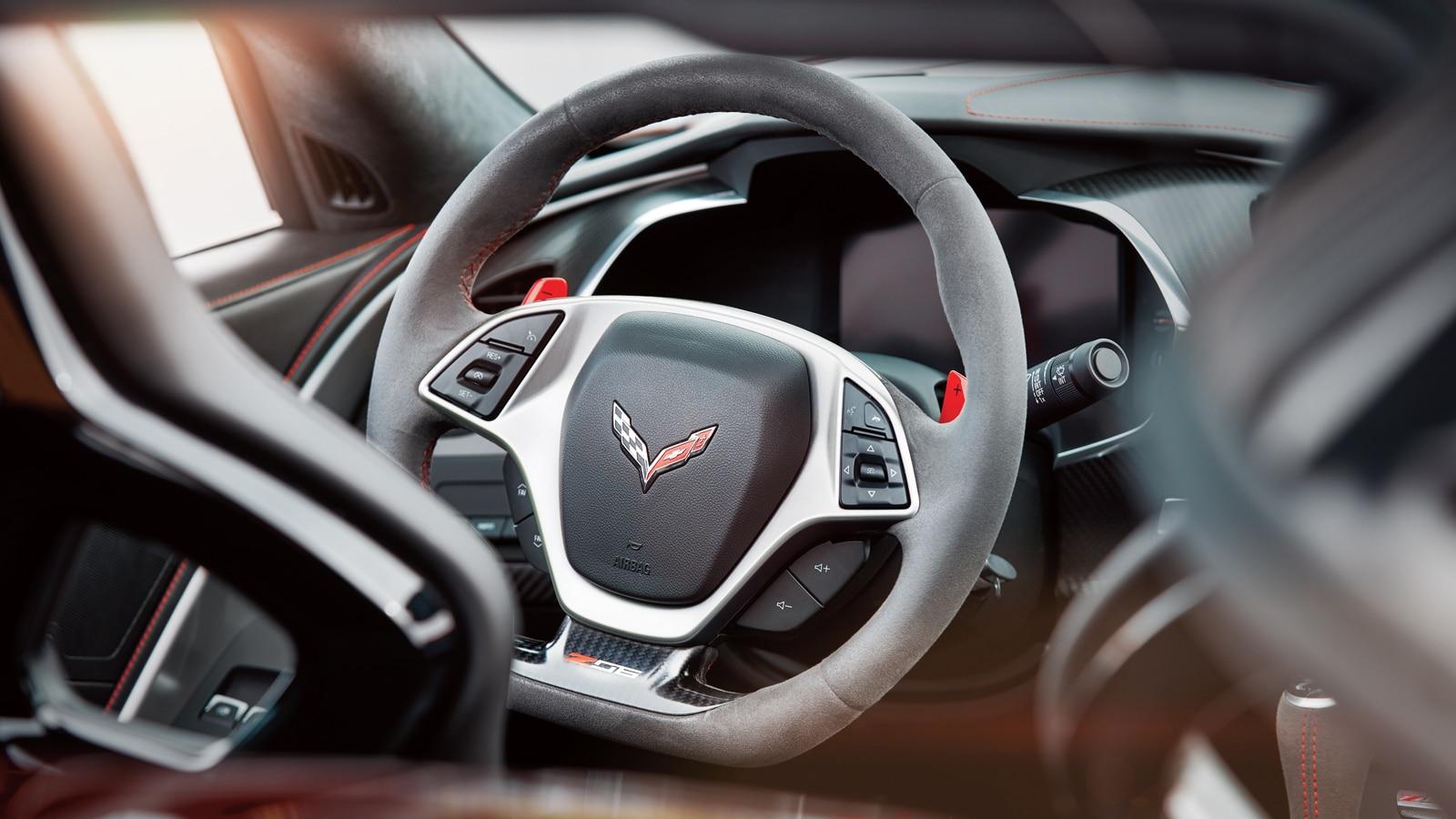El volante de un Corvette.