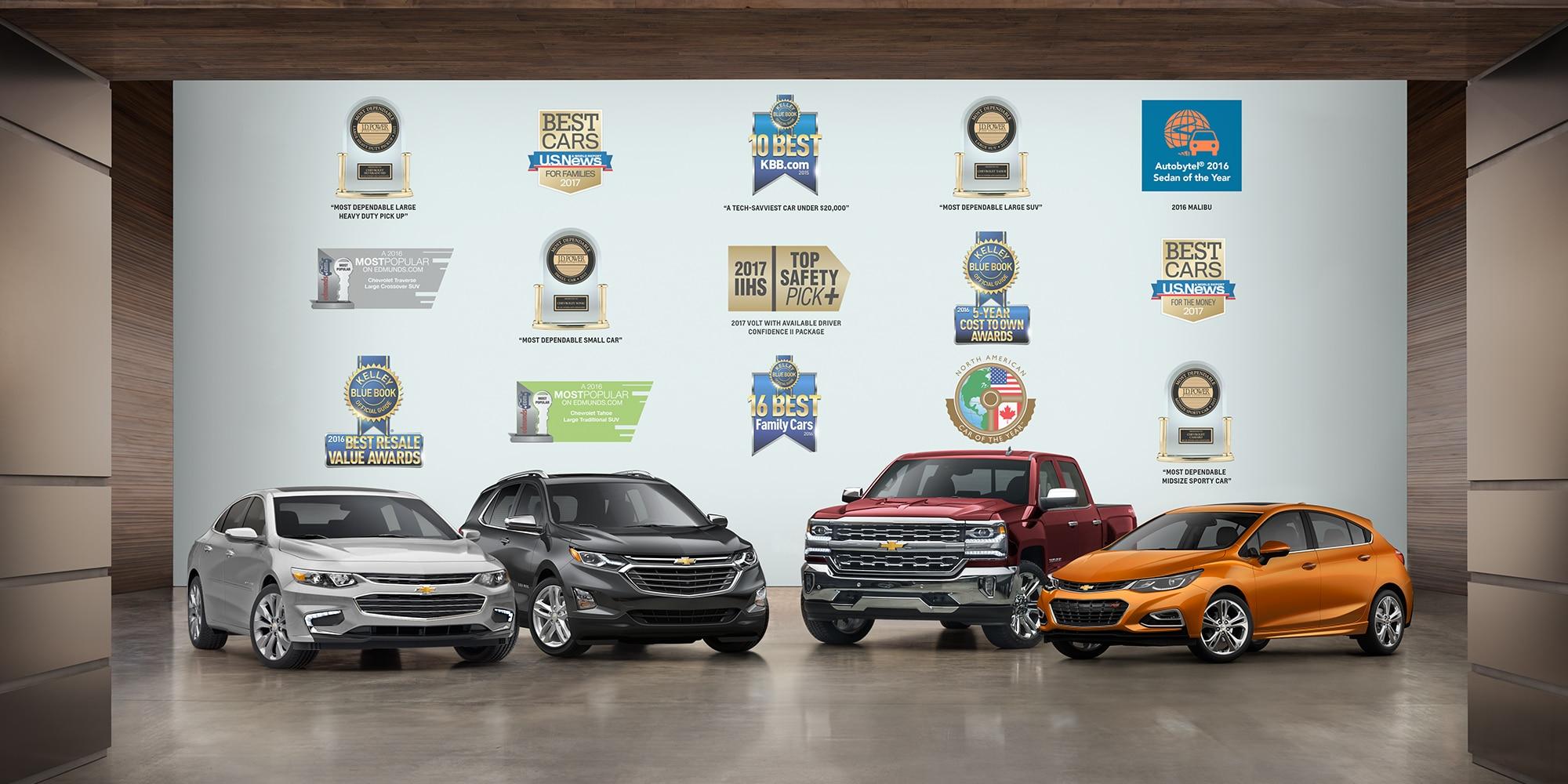 La más premiada: Malibu, Equinox, Silverado, Cruze Hatchback
