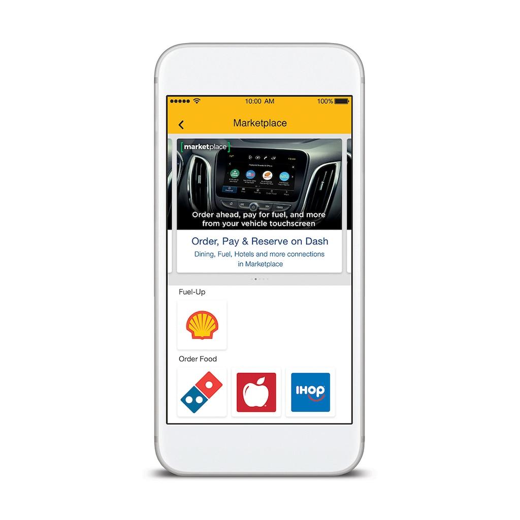 Primer plano de la pantalla de la aplicación My Chevrolet