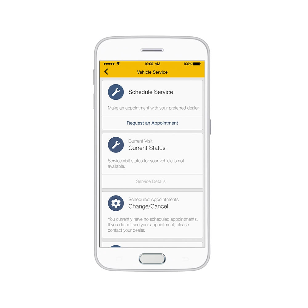 Aplicación myChevrolet: Gestión de vehículos