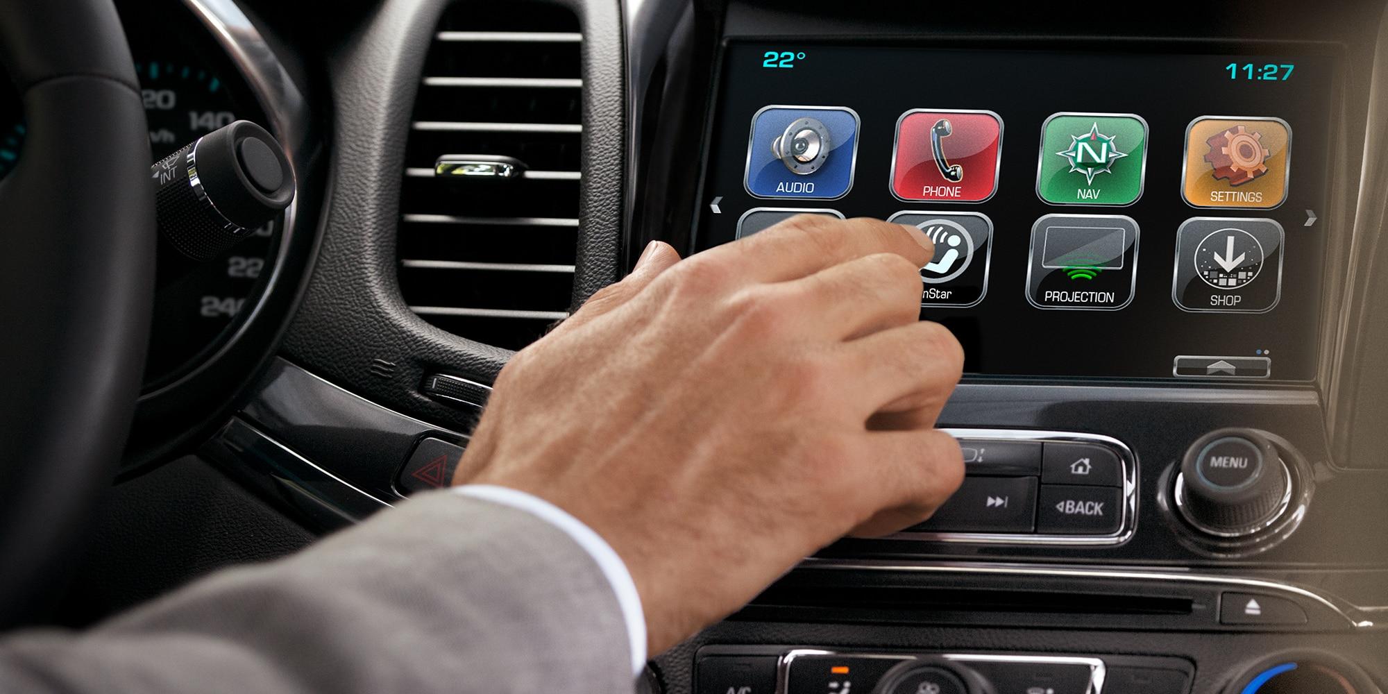 Funciones de Chevrolet MyLink: pantalla táctil