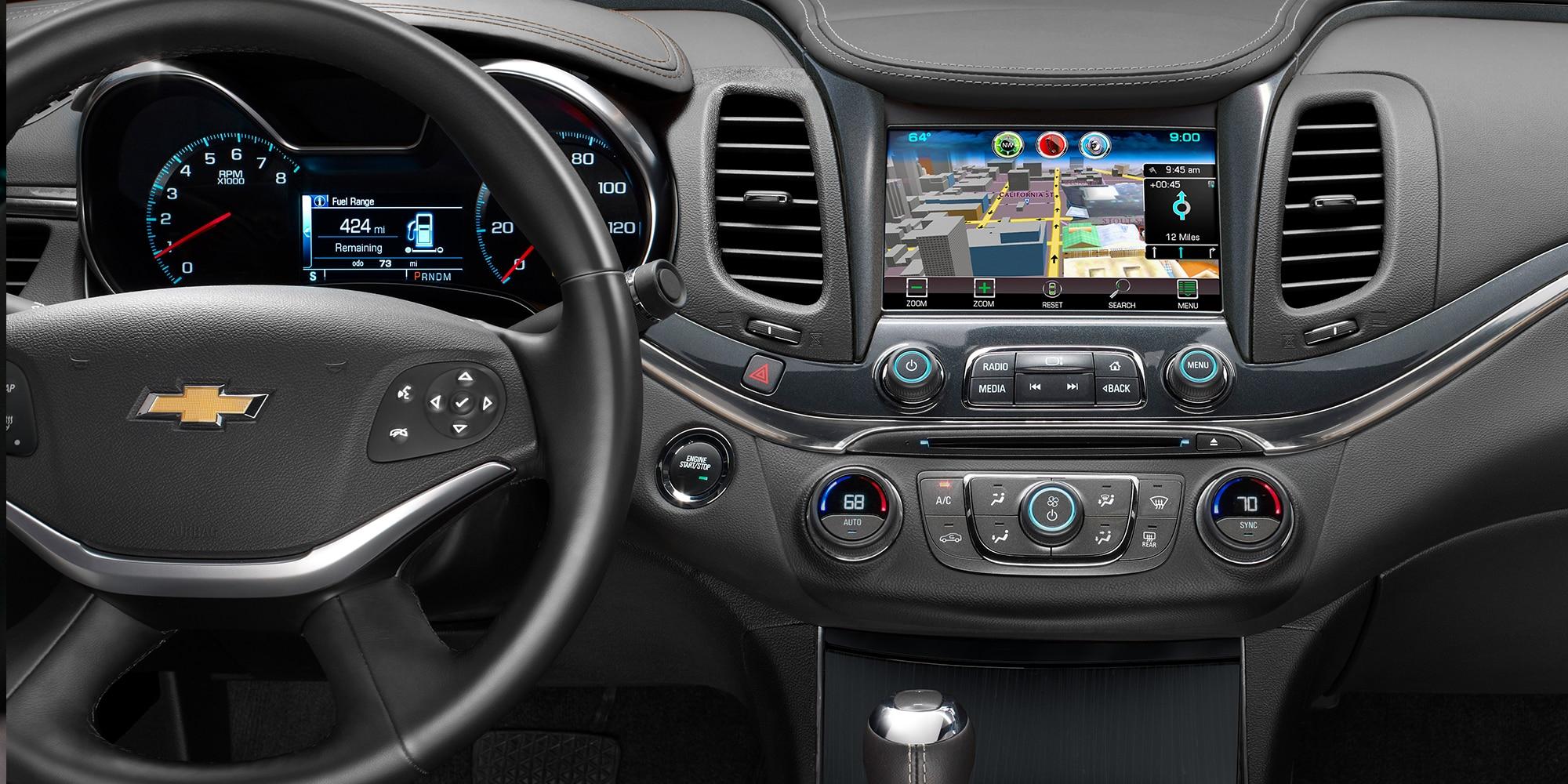 Funciones de Chevrolet MyLink: navegación