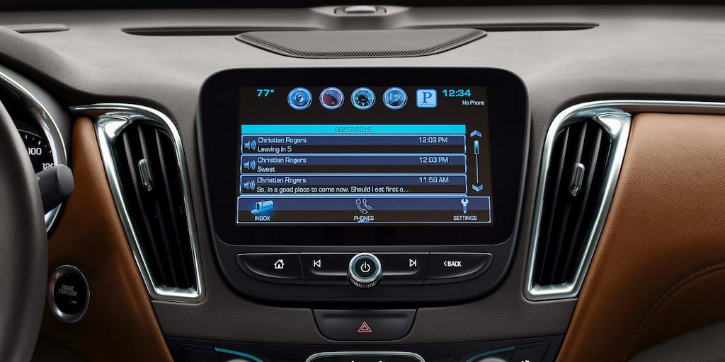 Funciones de Chevrolet MyLink: pantalla
