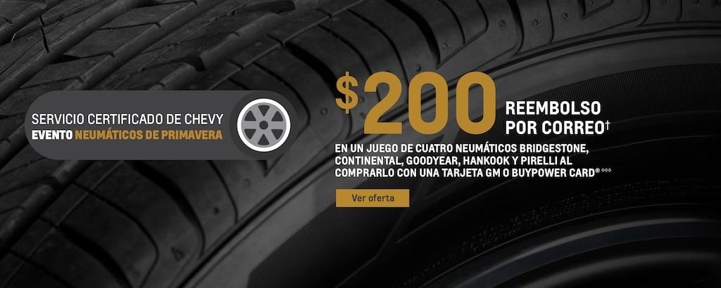 Investigación de neumáticos e información de seguridad del servicio certificado de Chevrolet