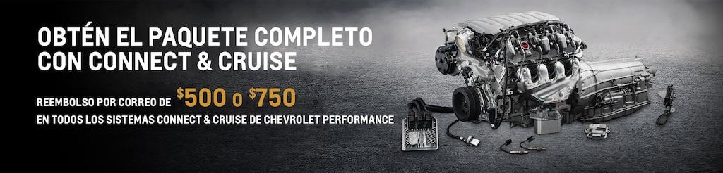 Obtén el paquete completo con un sistema de tren motriz Connect and Cruise de Chevrolet Performance con un rembolso por correo de $500 o $700 por tiempo limitado