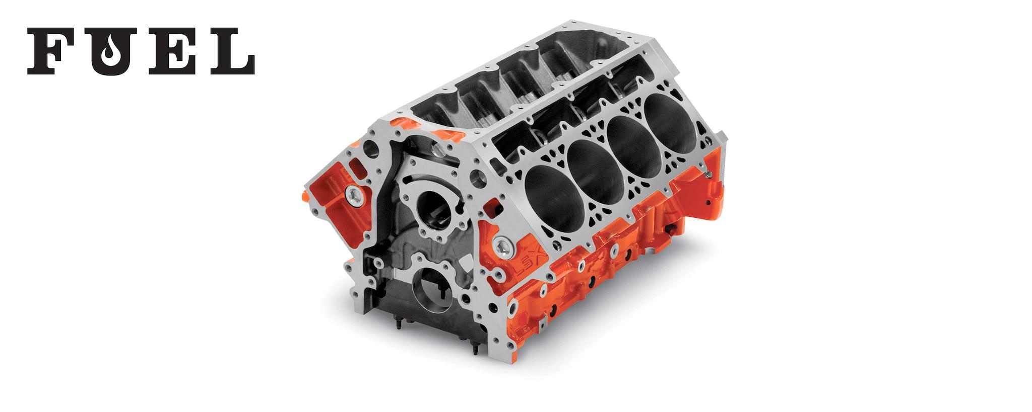Boletín informativo Fuel de Chevrolet Performance presenta la base de muchos Hot Rods, el bloque LSX Bowtie.