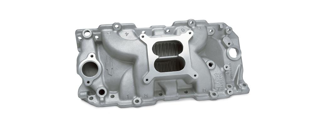 Colector de admisión con puerto para CNC de bloque grande Chevrolet Performance para motores con puerto ovalado, diámetro cuadrado y carburadores Holley, núm. de parte  12363407