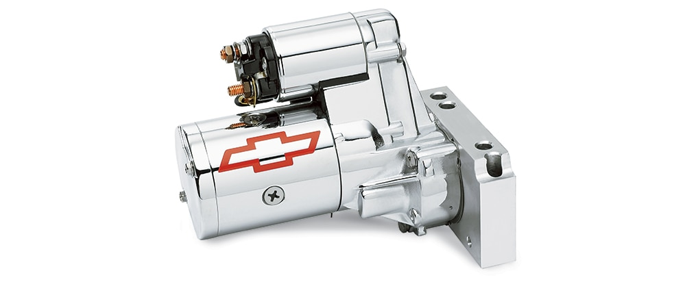 Miniarrancador cromado para bloque grande Chevrolet Performance, N.° de parte 12363128