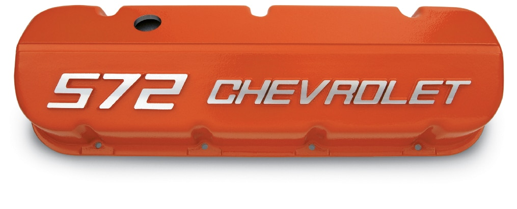 "No. de parte 12499200 de tapas de válvulas de bloque grande ""572 Chevrolet"" Chevrolet Performance"