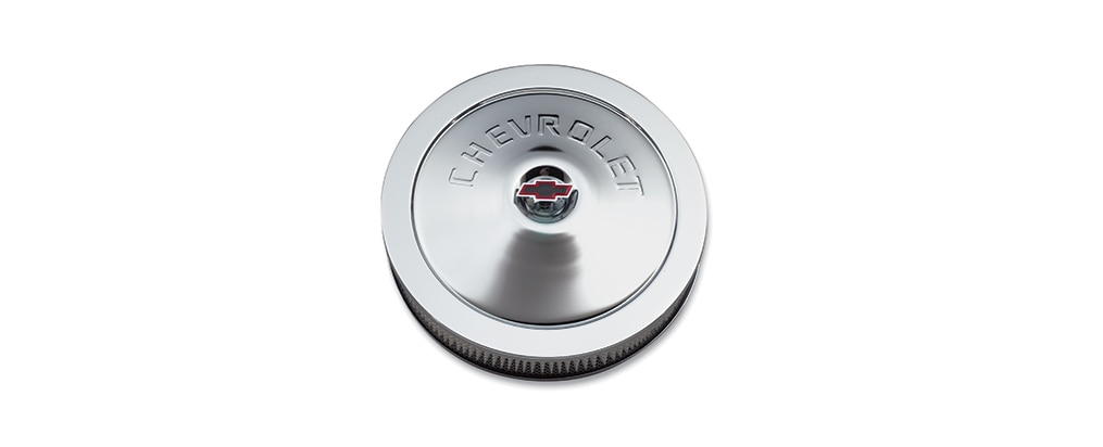 Filtro de aire de clásico con el logo Chevrolet de bloque pequeño Chevrolet Performance, N.° de parte 12342071