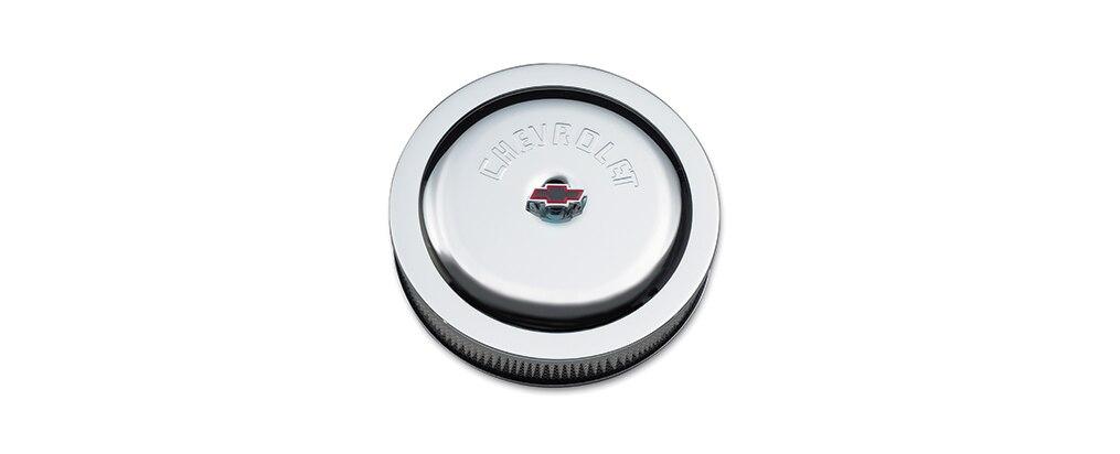 Filtro de aire de alto desempeño con el logo Chevrolet de bloque pequeño Chevrolet Performance, N.° de parte 12342080