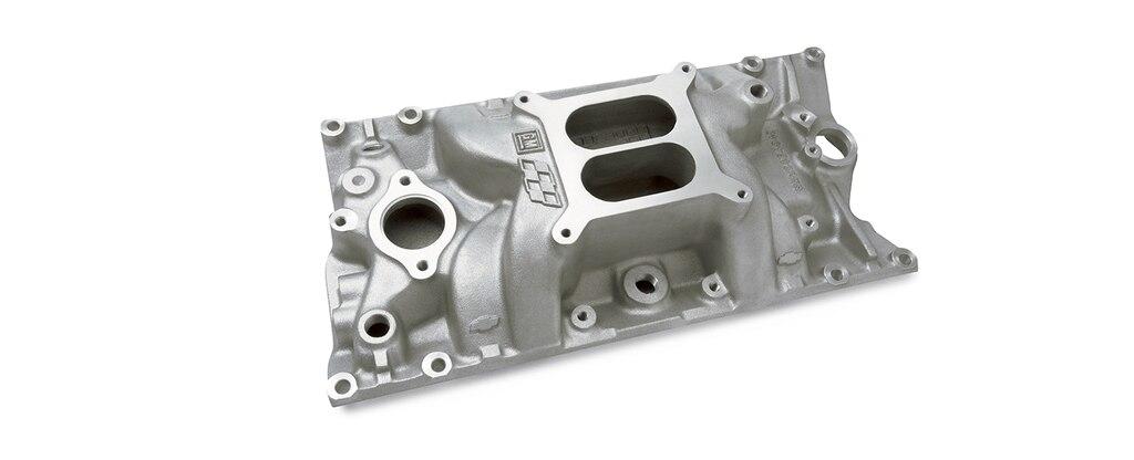 Colector de admisión de bloque pequeño Chevrolet Performance para motores de diseño de cabezal Vortec, número de parte 12366573