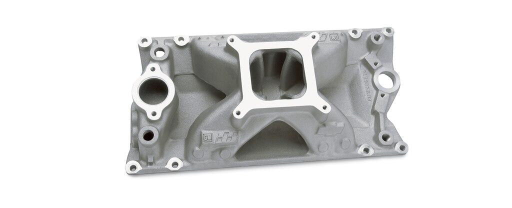 Colector de admisión de bloque pequeño Chevrolet Performance para diseño de cabezal Vortec para TBI, número de parte 12496821