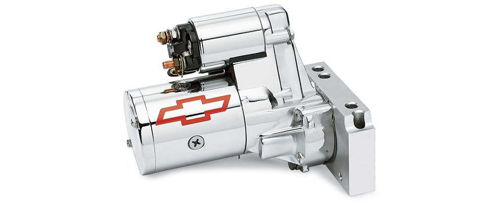 Miniarrancador cromado de alto torque para bloque pequeño Chevrolet Performance, N.° de parte 12363128