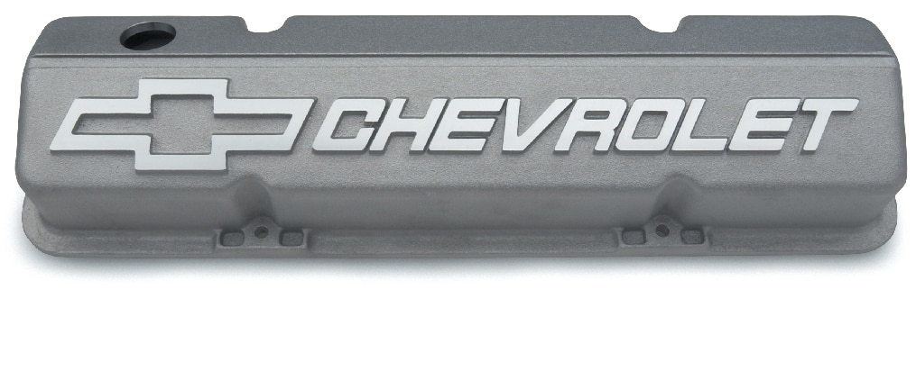 No. de parte 12480127 de tapas de válvulas de aluminio cortas de bloque pequeño Chevrolet Performance