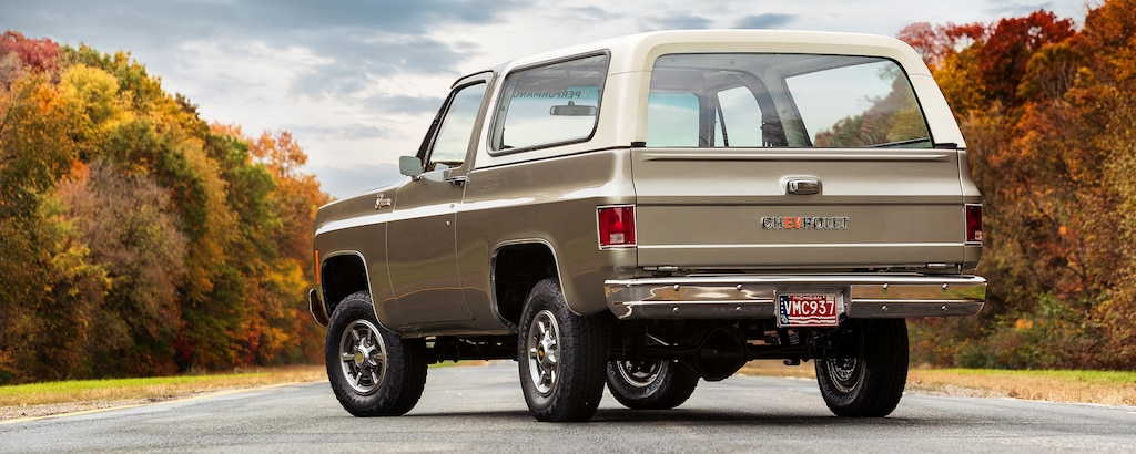 VE Chevrolet BlazerK5 eléctrico: vista trasera