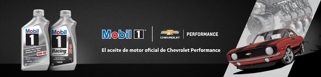 Mobil 1 es el aceite de motor oficial de Chevrolet Performance
