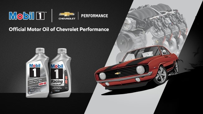 Mobil 1:aceite de motor oficial de Chevrolet Performance