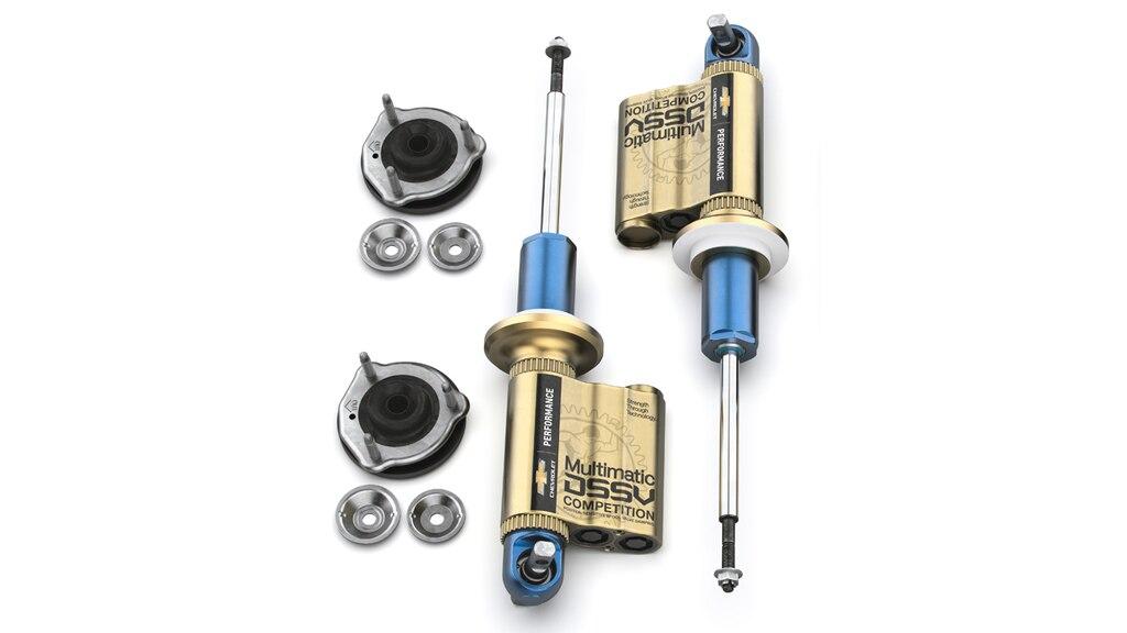 Accesorios de mejora de vehículos todo terreno Chevrolet Performance para la Colorado ZR2: Amortiguadores DSSV delanteros de largo recorrido, N.° de parte 84981272