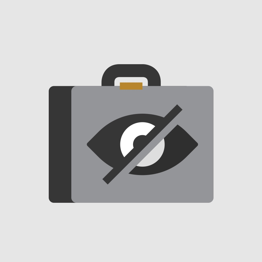 Icono de almacenamiento oculto