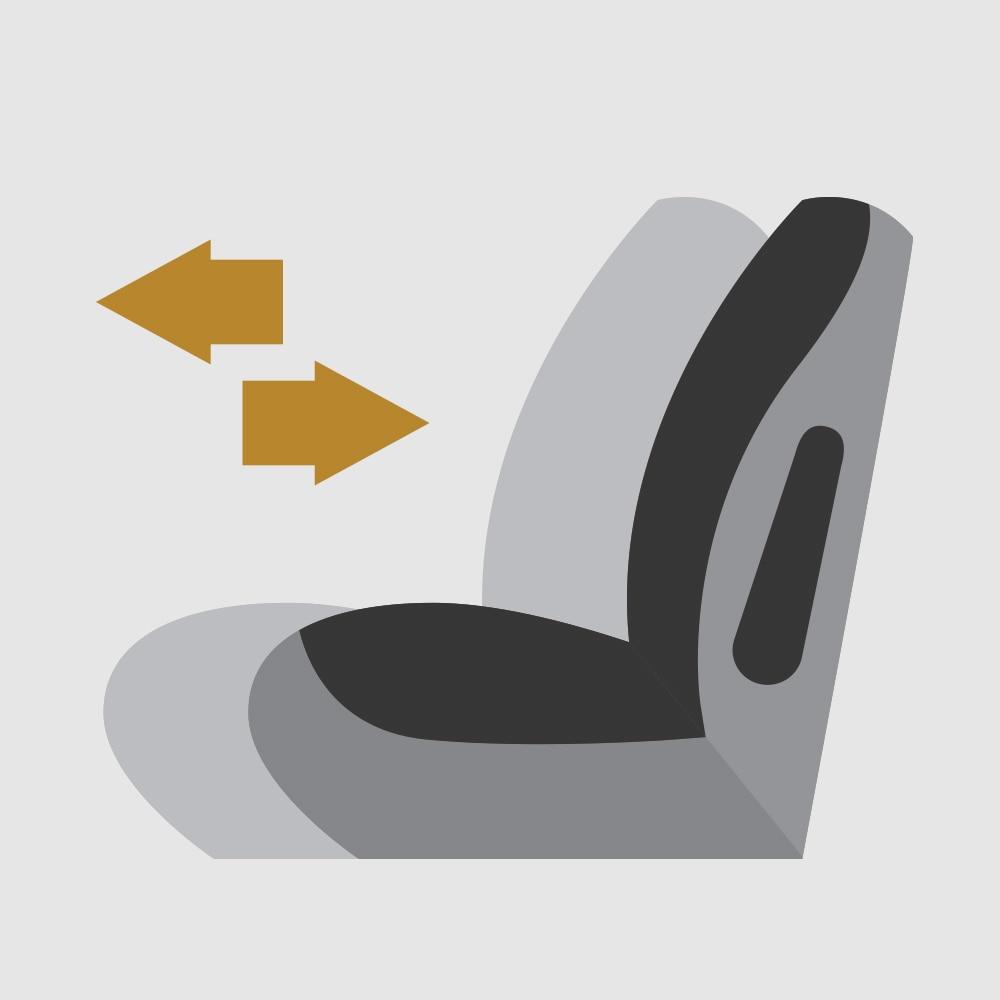 Icono de asientos deslizables inteligentes