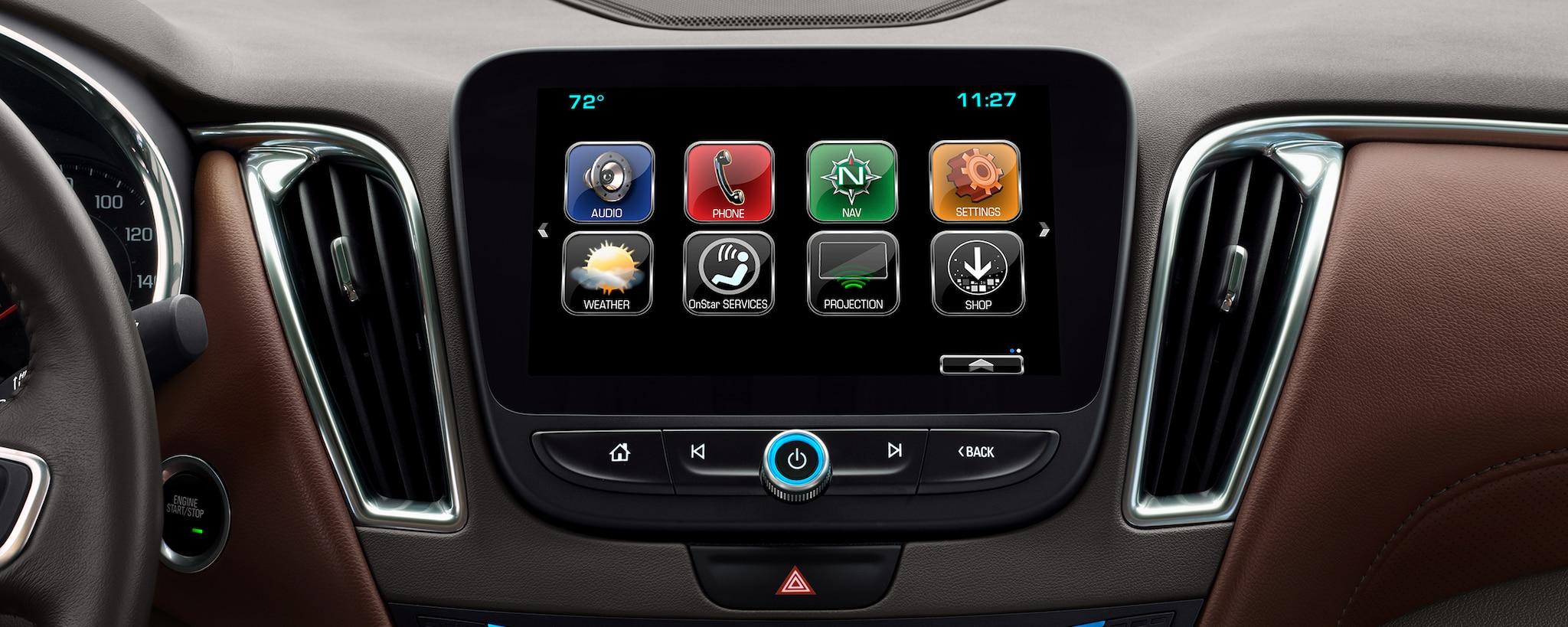Gama de autos Chevrolet: MyLink