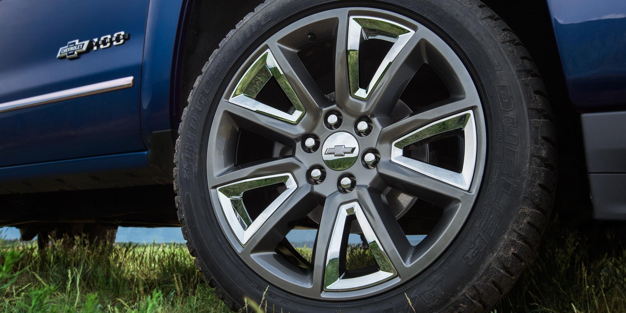 Camioneta Chevrolet edición especial Centennial: Rines