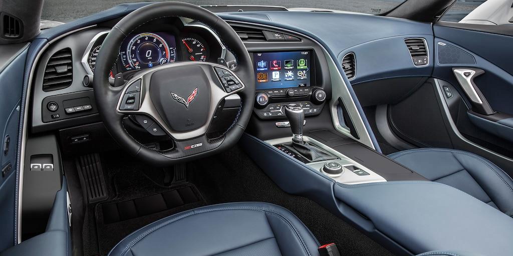 Ediciones especiales de Corvette. Paquete de diseño Azul Crepúsculo: interior