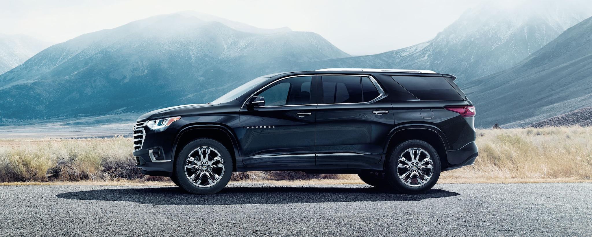 SUV Crossover de Chevrolet: Perfil lateral de la Traverse