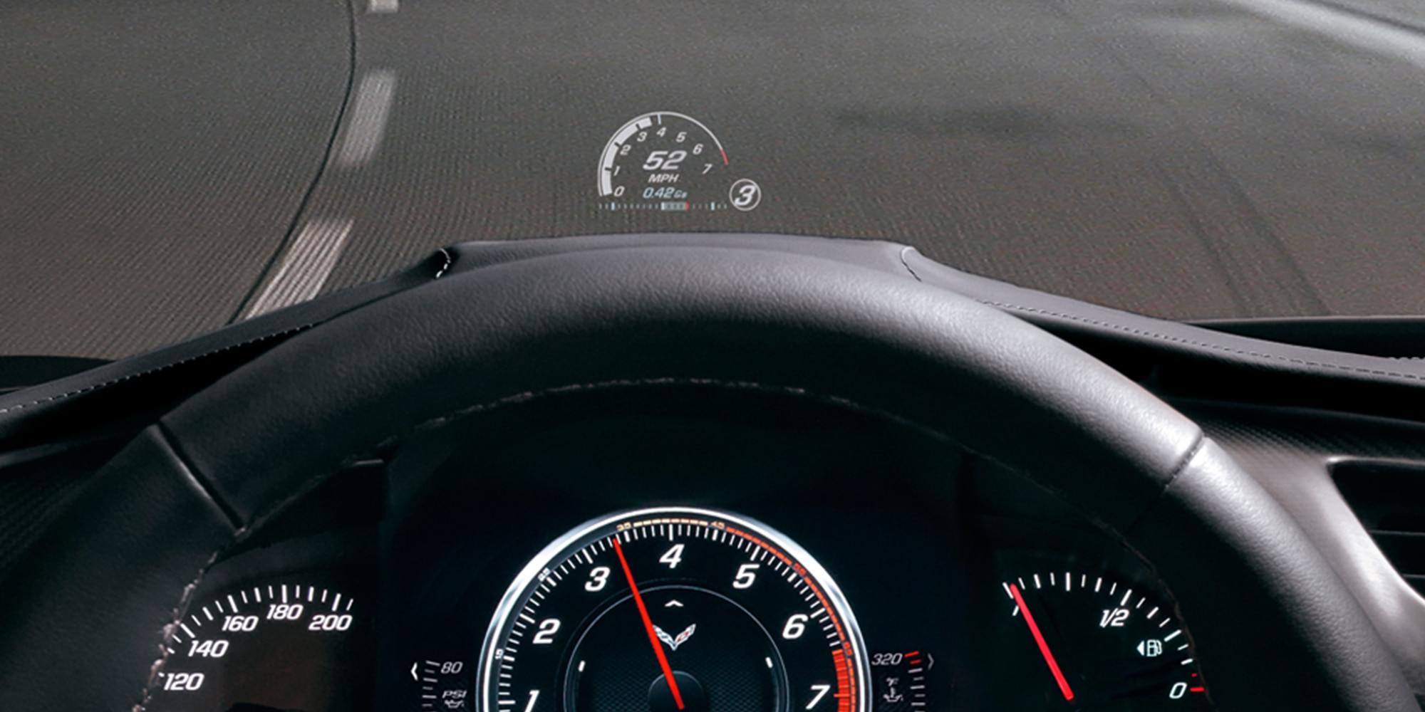 Auto deportivo Corvette 2017: Head-Up Display