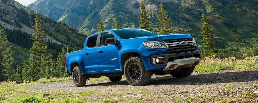 Exterior de la camioneta Chevrolet Colorado 2022 de tamaño pequeño: edición Trail Boss